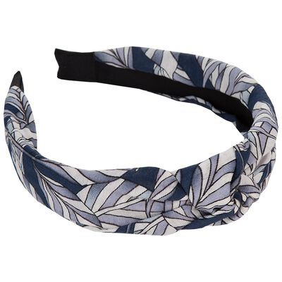 Leaf Print Knotted Alice Band