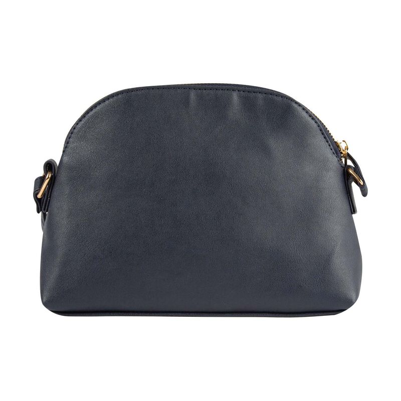 Chana Vegan Leather Cross Body Bag -  navy