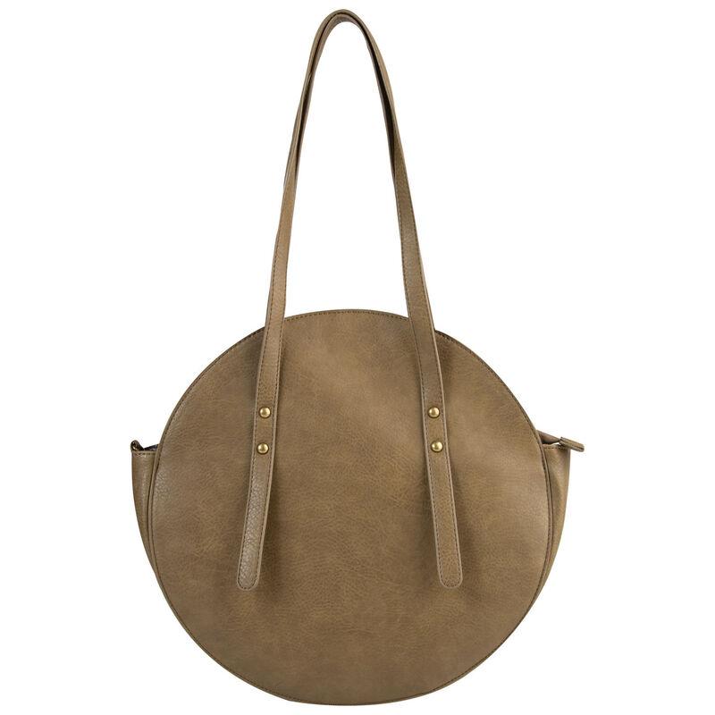Charlotte Vegan Leather Round Bag -  olive