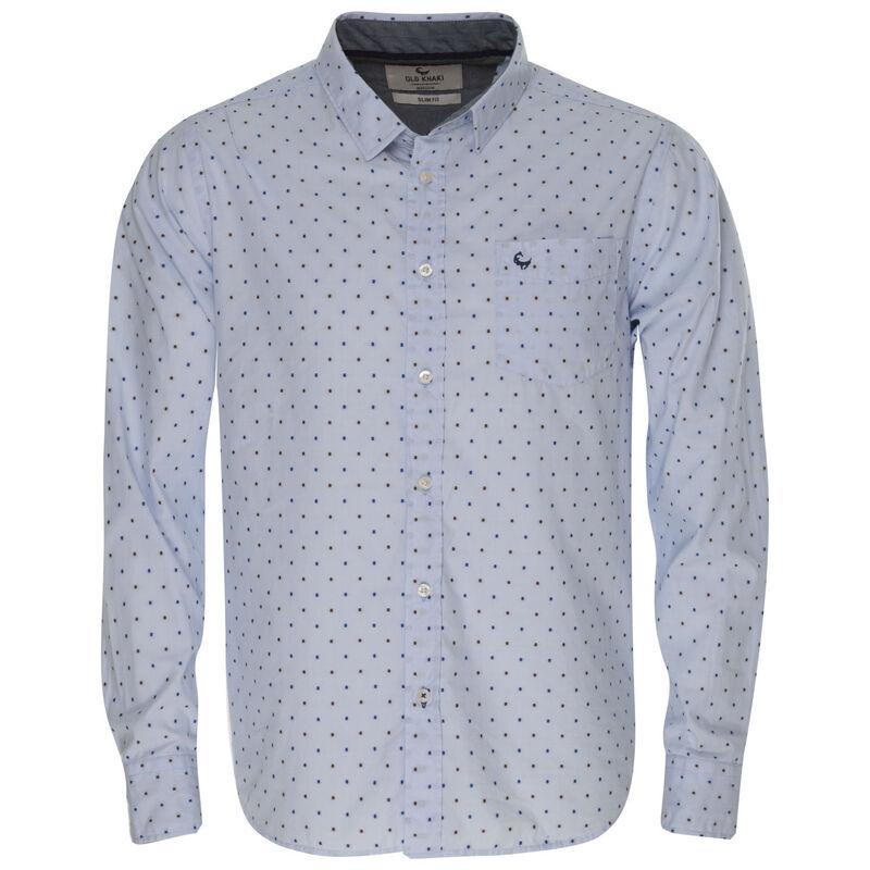 Men's Ward Slim Fit Shirt -  blue