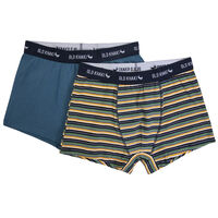 Two-Pack Striped Underwear -  blue-yellow