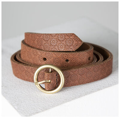 Old Khaki Alice All Over Embossed Belt