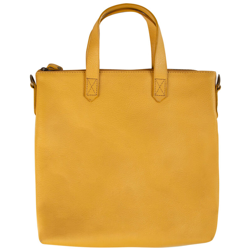Amarone Small Shopper Leather Bag -  yellow-yellow