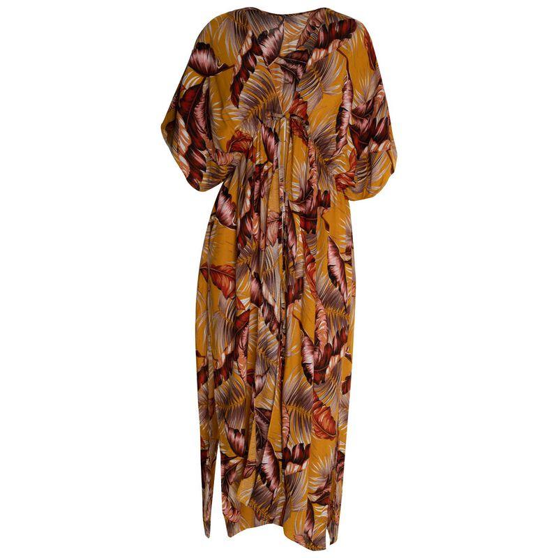 Women's Alondra Long Kimono -  yellow-rust