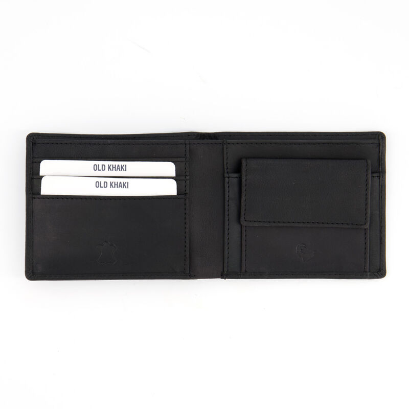 Bretton Branded Leather Wallet -  black