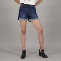 Women's Freedom Denim Shorts -  navy
