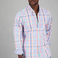Men's Lungi Slim Fit Shirt -  coral