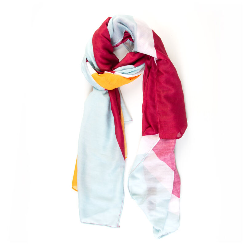 Women's Jolene Colour Blocked Scarf -  assorted