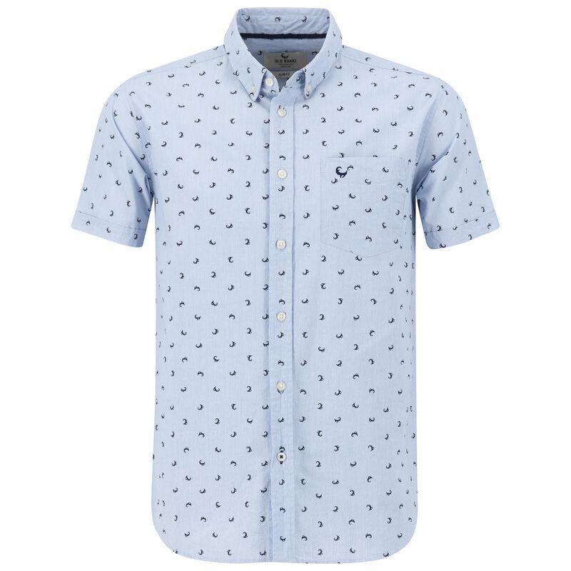 Men's Hakim Slim Fit Shirt -  blue