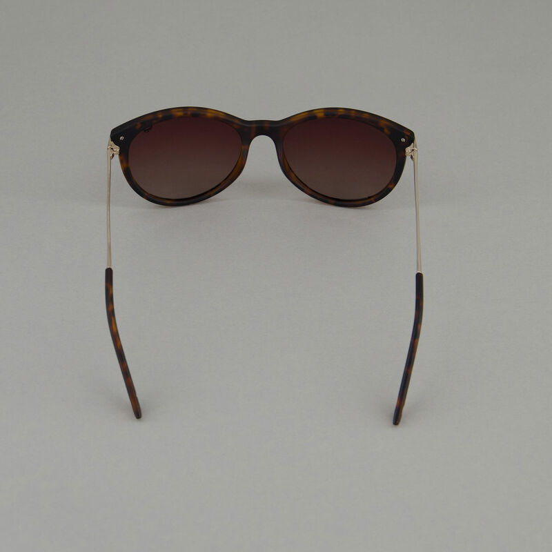 Old Khaki Ladies Polarised Rounded Classic Sunglasses  -  brown-gold