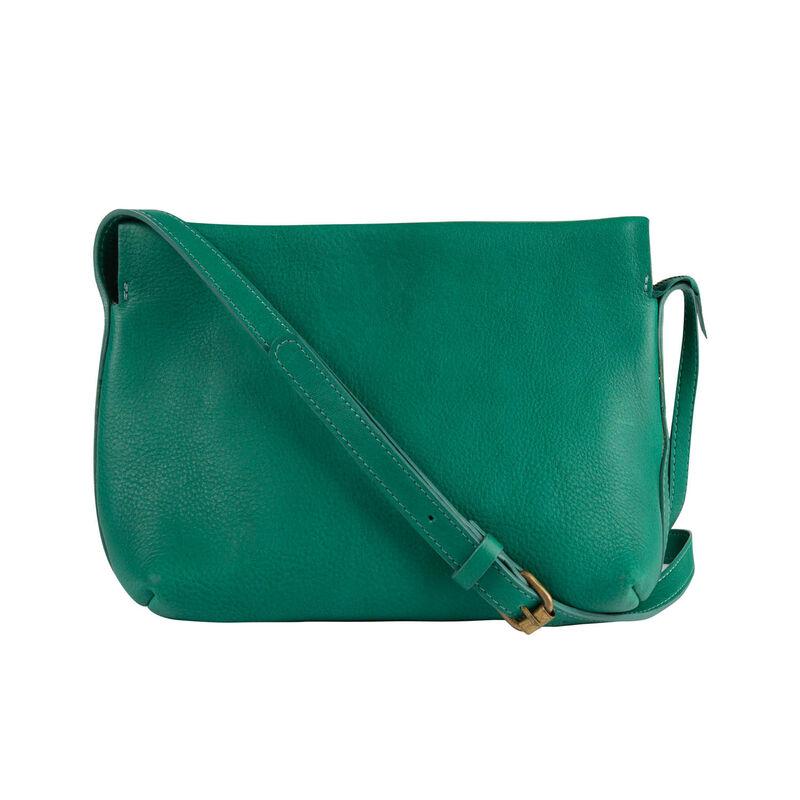 Women's Evalyn Leather Cross Body Bag -  emerald