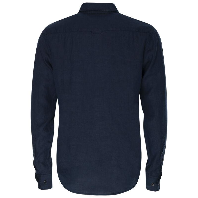 Dustin Linen Slim Fit Shirt -  navy