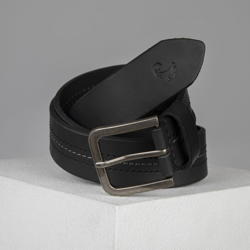 Old Khaki Cory Stitch Detail Belt -  black-grey