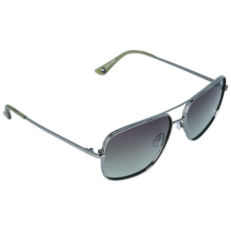 Old Khaki Men's Polarised Square Aviator Sunglasses  -  charcoal-brown