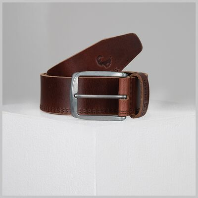 Bowen Double Stitch Leather Belt