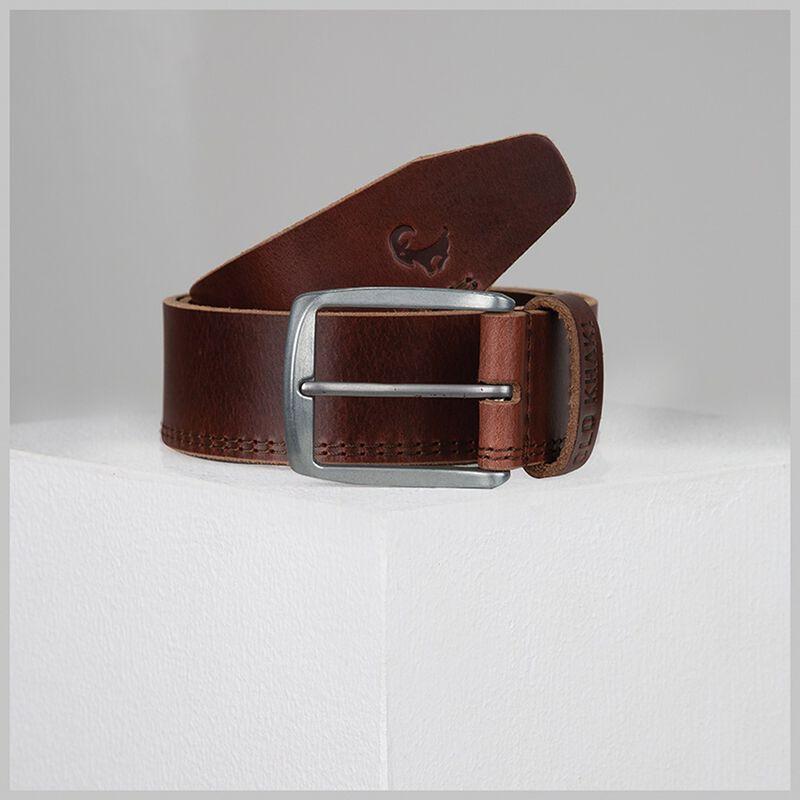 Old Khaki Men's Bowen Double Stitch Leather Belt -  tan