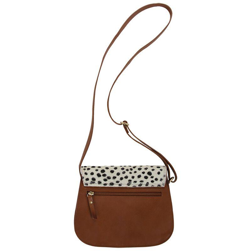 Kaiya Leather Saddle Bag -  tan-milk