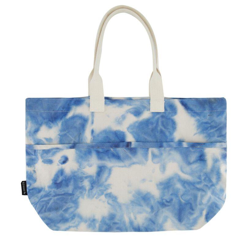 Women's Darcie Oversized Tie-Dye Shopper Bag -  blue-milk