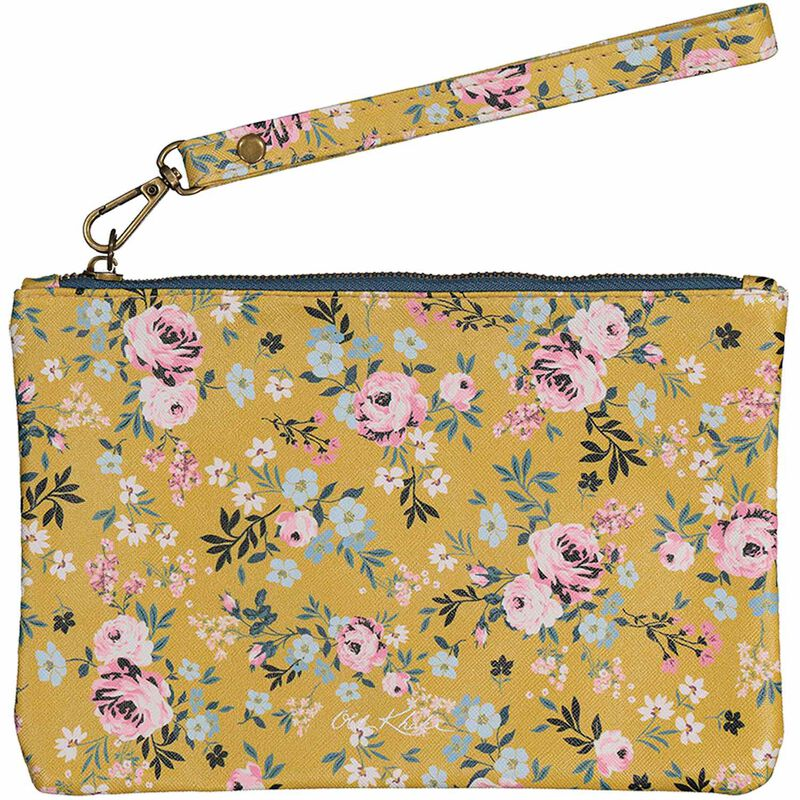 Ayla Vegan Leather Pouch -  yellow-assorted