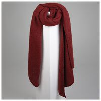 Adley Warm Handle Scarf -  burgundy
