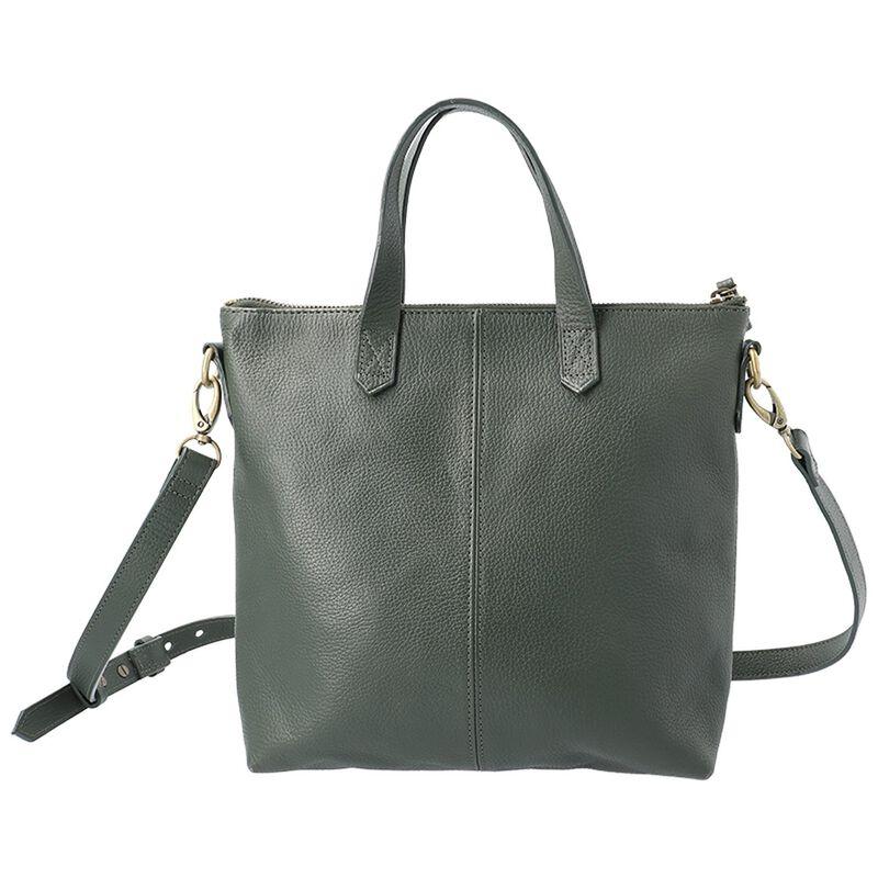 Amarone Small Shopper Leather Bag -  green