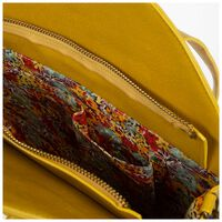 Charlotte Vegan Leather Round Bag -  yellow