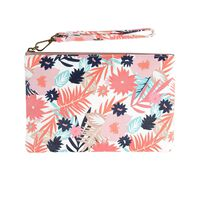 Ayla Vegan Leather Floral Pouch -  assorted