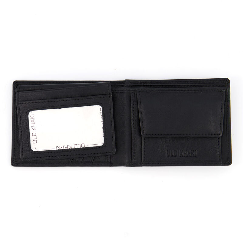 Men's Dale Foldover Leather Wallet  -  black