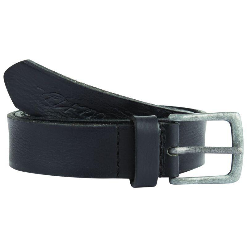 O Kodiak Worn Leather Basic Belt -  black