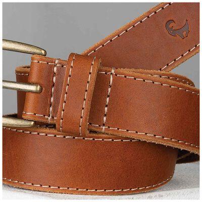 Augustin Men's Stitch Detail Leather Belt