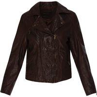 Rachel Women's Leather Jacket  -  oxblood