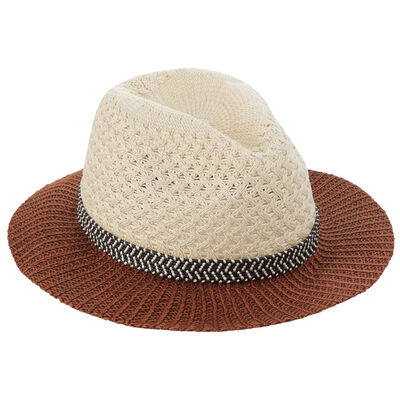 Edith Interest Weave Short Brim Fedora
