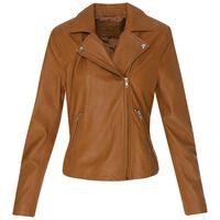 Liesl Leather Jacket  -  tan