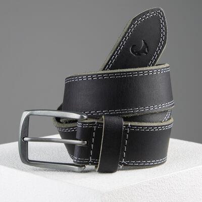 Kaleb Edge Stitch Leather Belt