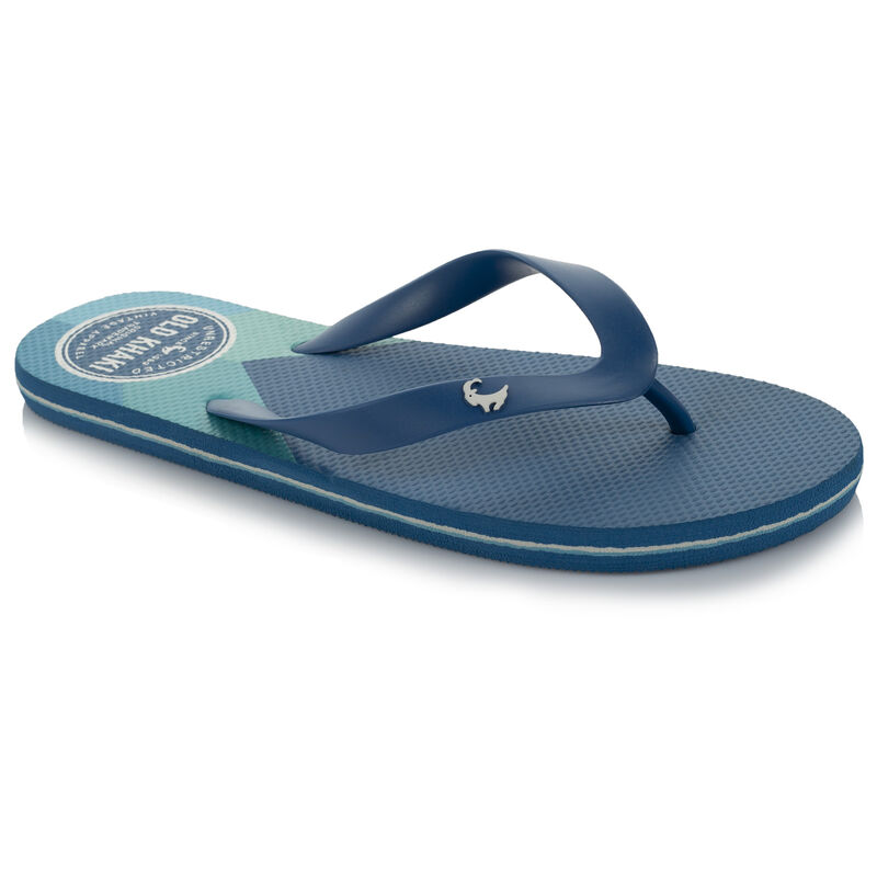 Men's Old Khaki Pacifico Flip Flops -  blue-seablue