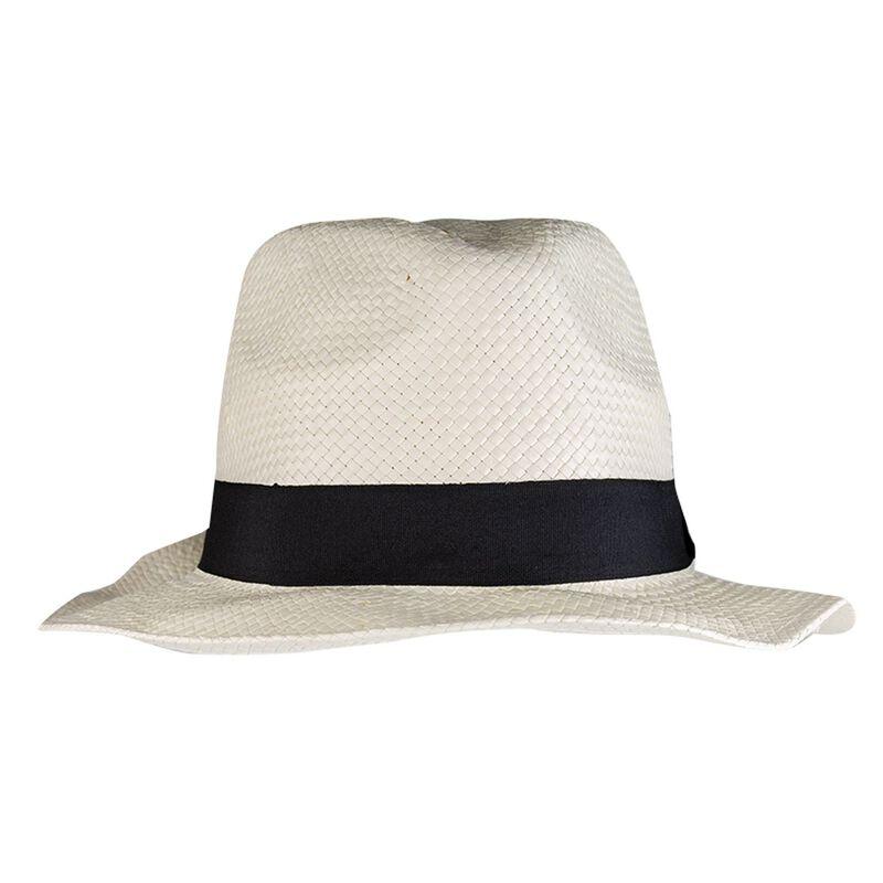 Men's Apollo Straw Trilby Hat -  milk-black