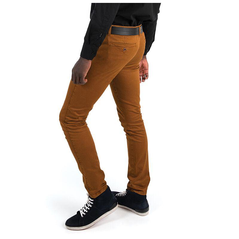 Kiro Men's Slim Leg Chinos -  rust