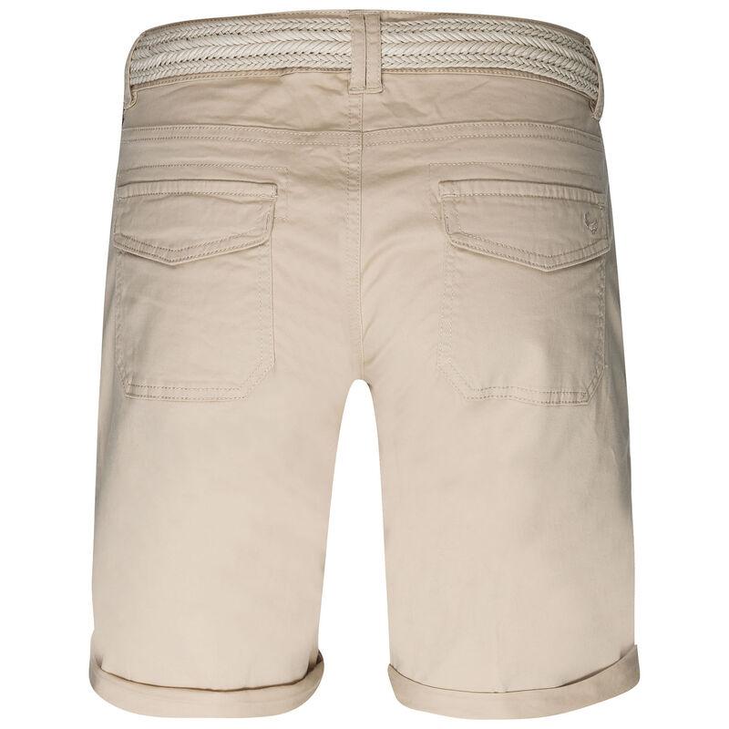 Callia Belted Shorts -  khaki-stone