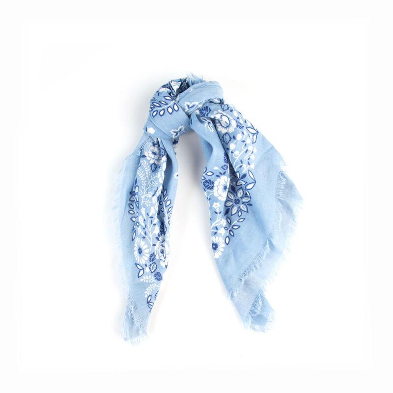 Women's Tilda Floral Bandanna Tie -  blue-milk