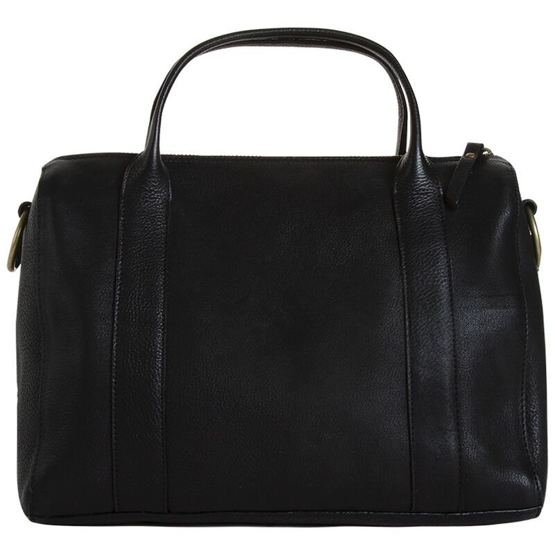 Women's Eloisa Leather Bowler Bag -  black
