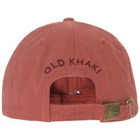 Malcolm Branded Cap -  rust-burgundy