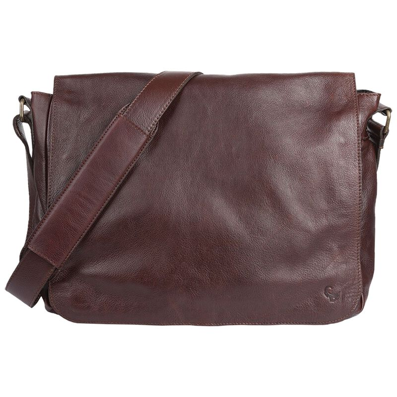 Hardy Leather Laptop Bag -  brown