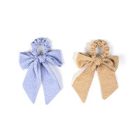 Gilly Gingham Bow Ties - 2 Pack -  blue-yellow