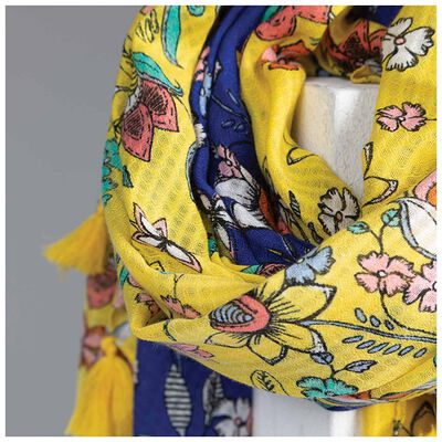 Mikaela Clustered Floral Scarf