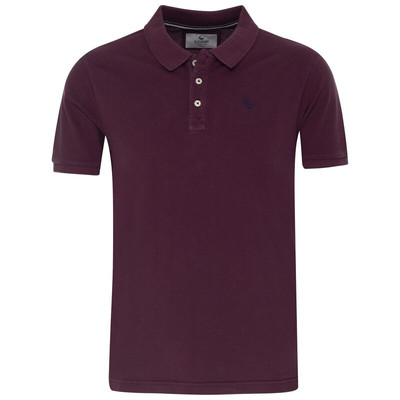 Alex Men's Standard Fit Golfer  -  burgundy