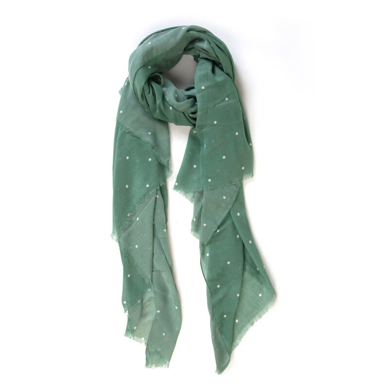 Women's Madeline Dotted Scarf -  green-milk