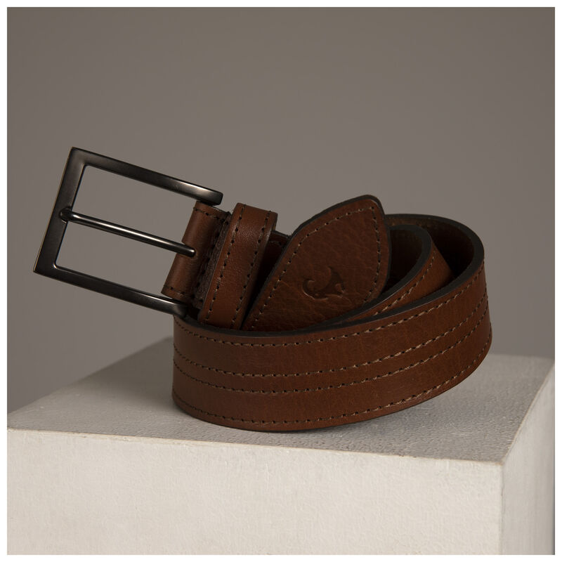 Old Khaki Men's Samuel Stitch Detailed Belt -  tan-tan